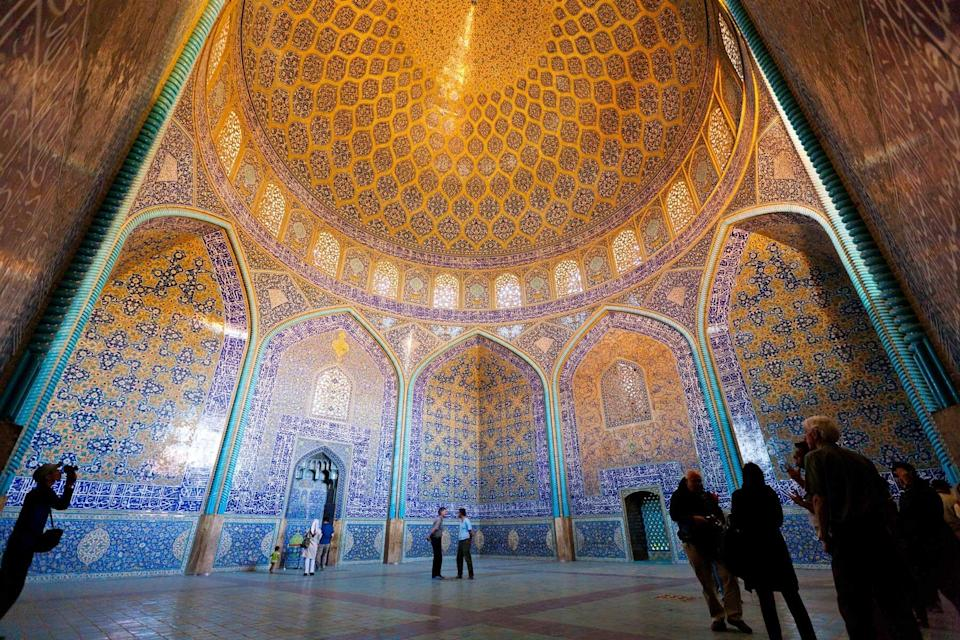 A richly colored interior in Iran, seen on a tour with GeoEx, voted one of the world's best Tour Operators